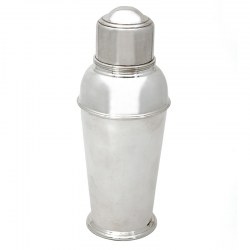Vintage English Art Deco Style Silver Plated Cocktail Shaker (c.1930)