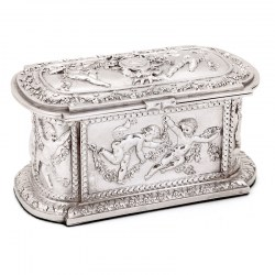 Electro Formed Silver Plate French Paris Casket or Jewellery Box