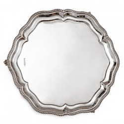 Georgian Style Silver Salver by Walker and Hall (1924)