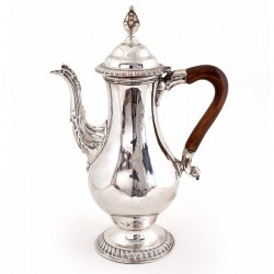 Antique George III Old Sheffield Plate Baluster Shaped Coffee Pot (c.1765)