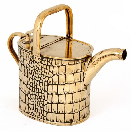 Antique Edwardian Brass Watering Can (c.1910)