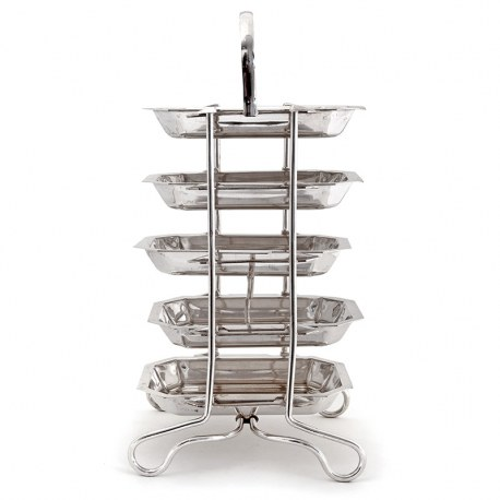 Vintage Art Deco Style Silver Plated 5 Tier Hors d'Oeuvres or Cake Stand (c.1930)