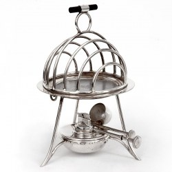 Antique Asprey Heated Toast Rack with Removable Hot Plate and Burner