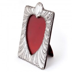 Antique Silver Photo Frame with a Heart Shaped Window (1898)