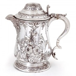 Antique Victorian Martin Hall & Co Silver Plated Lidded Flagon or Jug (c. 1860)