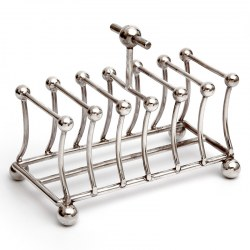 Antique Silver Plated Toast Rack in the Style of Christopher Dresser (c.1890)