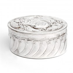 Vintage Oval WMF Silver Plated Box with a Hinged Lid (Circa 1930)