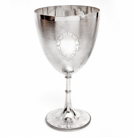 Large Antique Victorian Silver Plated Trophy Cup or Goblet (Circa 1885)