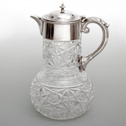 Silver Plated Claret Jug Engraved with The Gamekeepers Dog Show 1902
