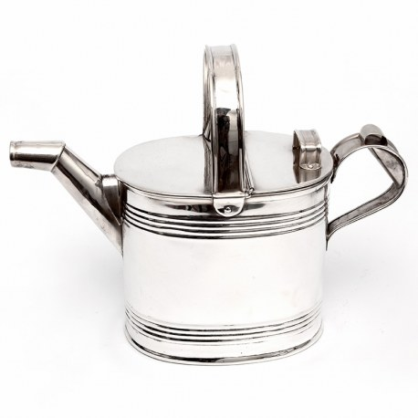 Antique Edwardian Silver Plated Four Pint Watering Can (c.1910)