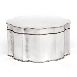 Antique Silver Plated Box with a Hinged Lid and Shaped Plain Body (c.1910)