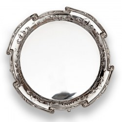 """Art Nouveau style Mappin & Webb 8"""" Silver Plated Salver"""