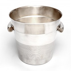 Large Vintage French Art Deco Style Silver Plated Ice Bucket (c.1940)