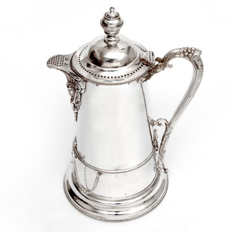 Antique Silver Plated Ice Cooler Lemonade Jug by John Round & Son