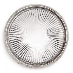 William Hutton & Sons Victorian Silver Plated Salver on Claw and Ball Feet