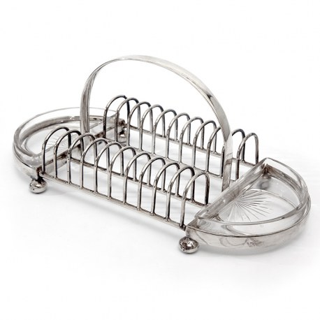 Antique Hukin & Heath Silver Plated Toast or Cracker Rack (c.1890)