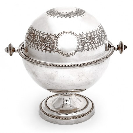 Antique Elkington & Co Silver Plated Revolving Top Butter Dish