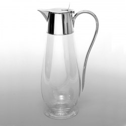 WMF Silver Plated Claret Jug with a Plain Mount and Clear Glass Body