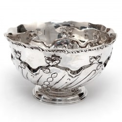 Edwardian Thomas Bradbury & Son Silver Rose Bowl