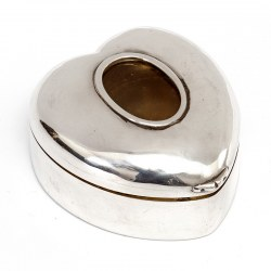 Victorian Silver Heart Shaped Box with an Oval Photograph Window (1892)