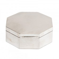 Chester Silver Octagonal Jewellery Box (1921)