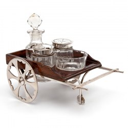John Grinsell & Son Novelty Victorian Cart Shaped Cruet Set (c.1885)