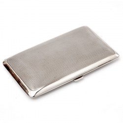 Elkington & Co Rectangular Silver Pocket Cigar Case