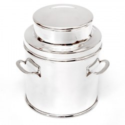 Large Vintage Silver Plated Churn Shaped Biscuit or Trinket Box (c.1930)