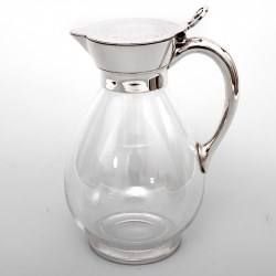 Victorian Martin Hall & Co Silver Plated and Glass Claret Jug (c.1885)