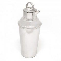 Large Vintage 1.5 Pint Silver Plated Cocktail Shaker